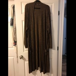 Lisa Rinna Collection Plus Size Brown Duster